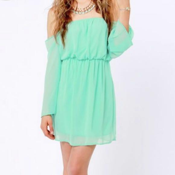 f21949873a26 B Darlin Dresses   Skirts - Dillard s B Darlin Mint Green Off Shoulder Dress